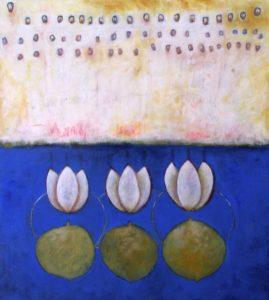 Three White Loti,